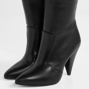 Stuart Weitzman Black Atomic West Leather Boots